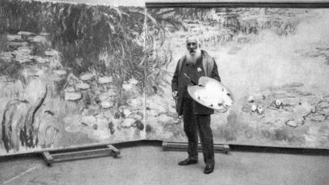 Monet drew inspiration from his Japanese garden at Giverny for many of his famous works