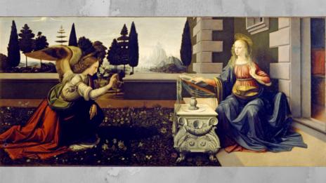 (Credit: The Annunciation/Leonardo da Vinci/Wikipedia)