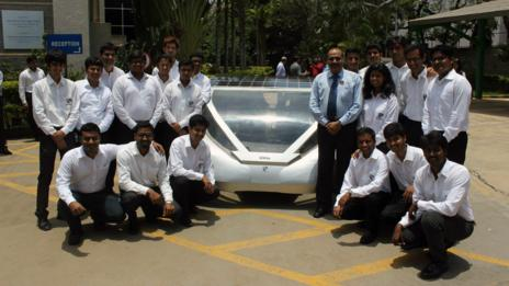 Manipal University's SERVe solar-electric car