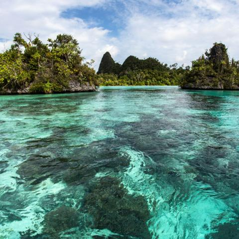 Indonesia, Indonesian coast, ocean, island, islet, Cengkeh (Credit: Credit: WaterFrame/Alamy)