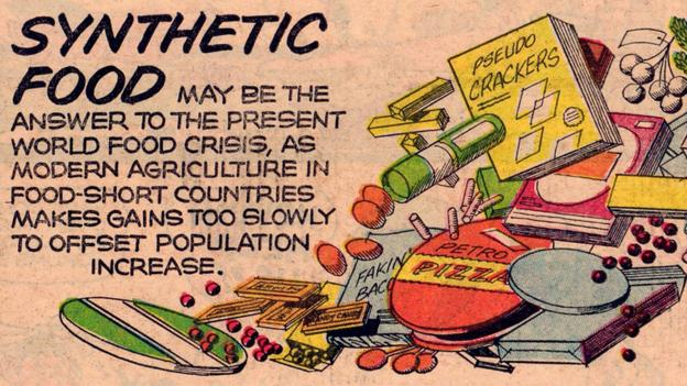 The 1965 Sunday comic strip Our New Age details the chemical future