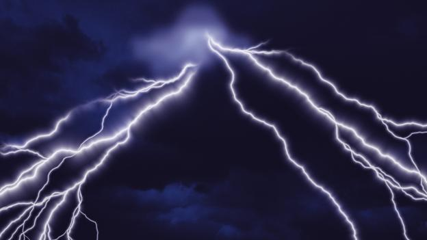 What causes lightening?