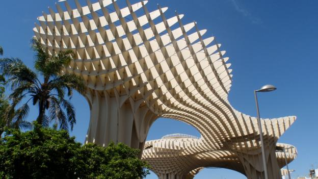 Seville's Espacio Metropol Parasols resembles a series of mushrooms (Credit: Shaney Hudson)
