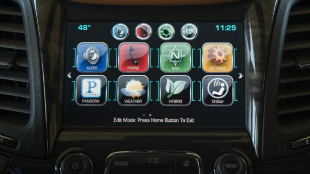 The Chevrolet MyLink system, as previewed on the 2014 Impala. (General Motors)