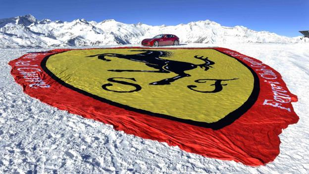 Ferrari FF in Madonna di Campiglio, Italy -- a rare sight growing rarer. (Ferrari/Reuters)