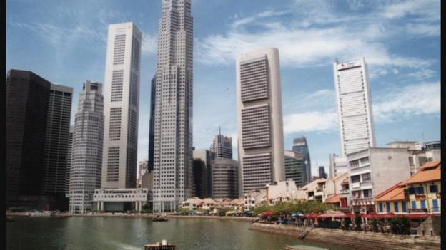 Singapore skyline (Credit: BBC)