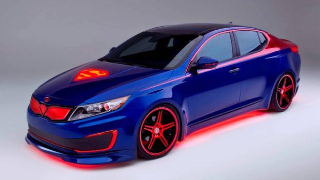 Superman-inspired Kia Optima Hybrid (Credit: Kia Motors America)