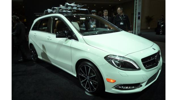 The Mercedes-Benz B250 was on display at the 2013 Toronto auto show. (Jonathan Schultz)