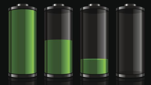 Batteries at differetn states of charge (Copyright: Thinkstock)