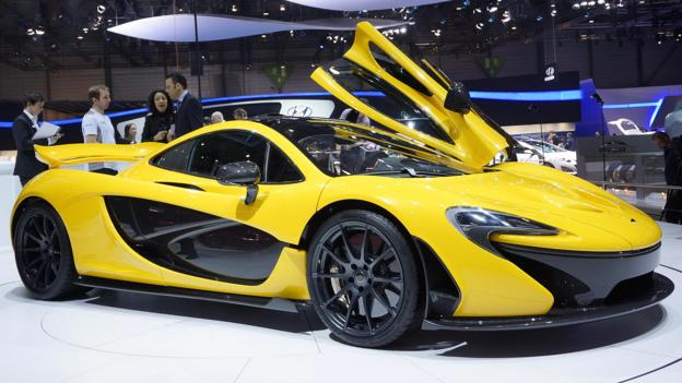 McLaren unveiled its P1 hypercar at the Geneva motor show on 5 March. (Newspress)