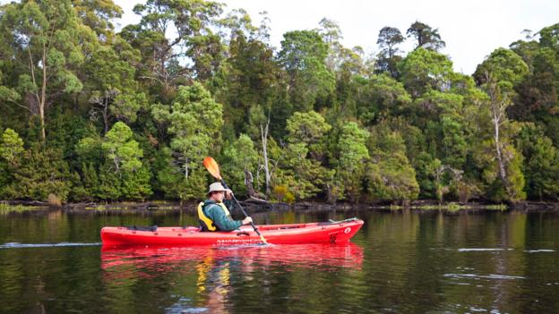 Kayaking on the Pieman River (Credit: Peter Walton Photography/Getty)