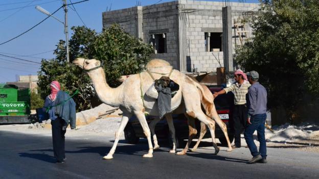 Traffic in Madaba (Credit: Gabriel O'Rorke)