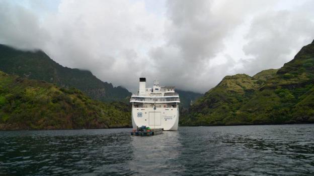 Sailing into the Marquesa Islands (Credit: Aranui 3)