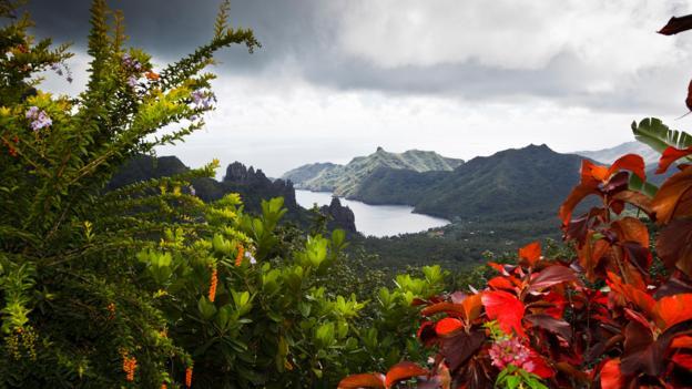Hatihen Bay on Nuku Hiva Island (Credit: Luis Davilla/Getty)