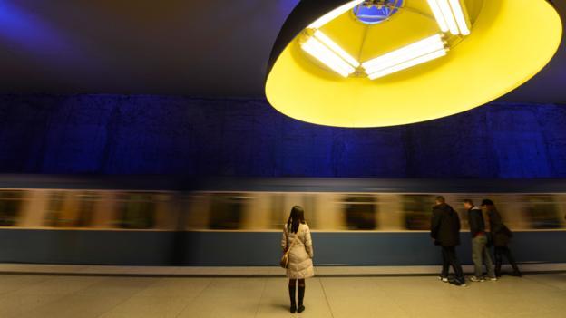Munich's Westfriedhof U-bahn station (Credit: Christof Stache/AFP/Getty)
