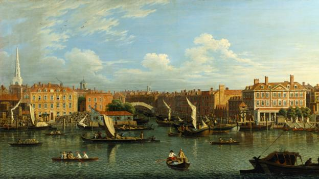 Entrance to the Fleet River, 18th Century (Credit: Samuel Scott/The Bridgeman Art Library/Getty)