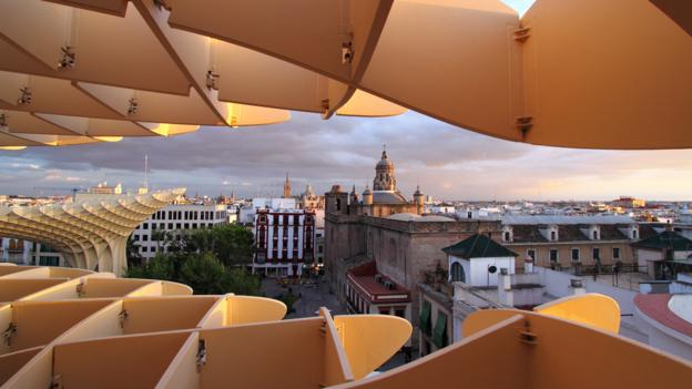Seville, Andalusia, Spain, Metropol Parasol, city, architecture (Credit: Ramon Ruti/Getty)