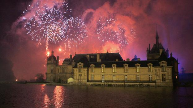 Fireworks over the Château de Chantilly (Credit: AFP/Getty Images)