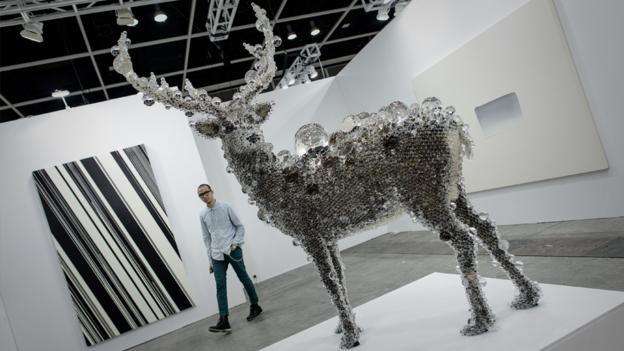 Deer leader (Credit: AFP/Philippe Lopez)