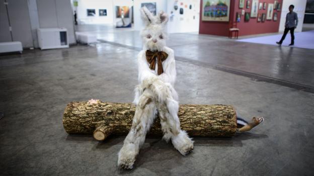 Bucks bunny (Credit: AFP/Philippe Lopez)
