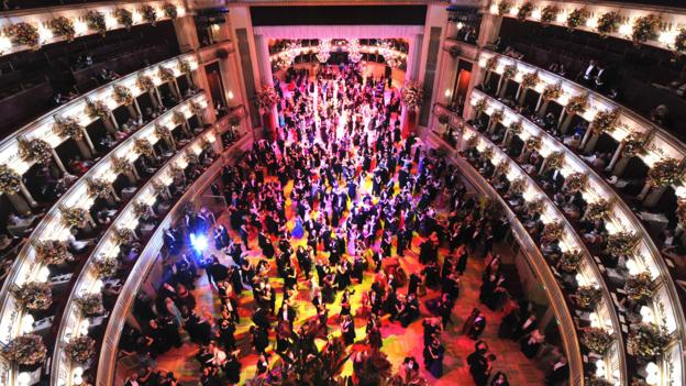 A ball at the Vienna State Opera (Credit: Martin Schalk/Getty)