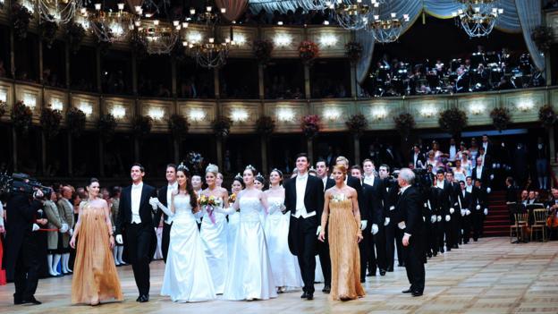 A ball at the Vienna State Opera (Credit: Martin Schalk/Getty)