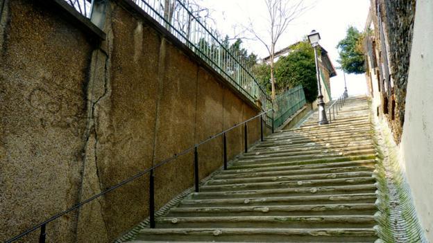Stairway leading from rue Geo Chavez to rue Irénée-Blanc (Credit: Richelle Harrison Plesse)