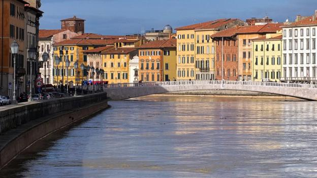 View of the Arno river in Pisa (Credit: Fabio Muzzi/AFP/Getty)