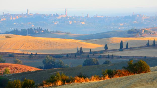 The countryside outside Siena (Credit: Fabio Muzzi/AFP/Getty)