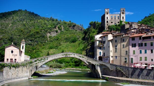 Dolceacqua is dominated by the striking 12th-century Doria Castle (Credit: Katie Beck)