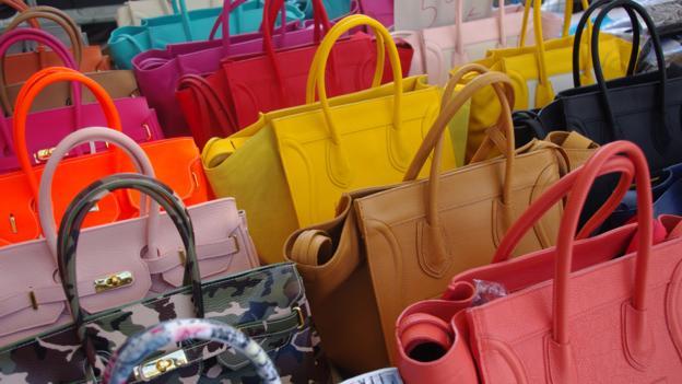 Leather bags at Mercado Coperto (Credit: Katie Beck)