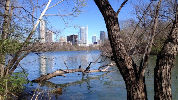 A view of downtown Austin from Zilker Metropolitan Park (Credit: Allison Busacca)