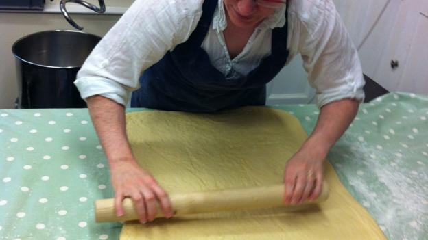 Baking at Talgarth Mill (Credit: Luke Waterson)