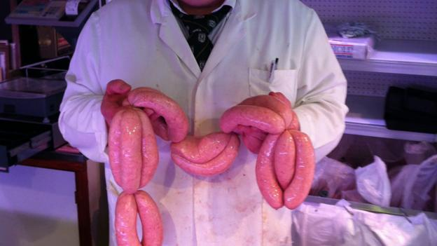 Award-winning sausages in Abergavenny (Credit: Luke Waterson)