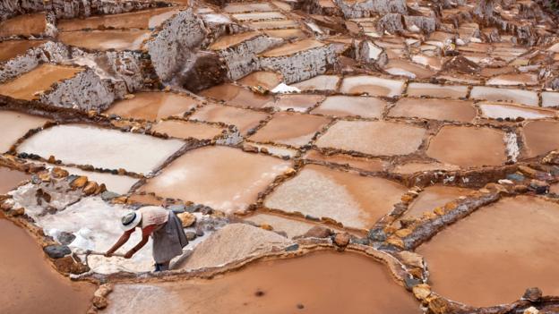 The ancient saltpans of Salinas (Credit: Nigel Pavitt/Getty)