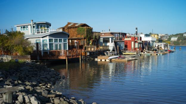 Sausalito's houseboats (Credit: Ginger Chih/Getty)