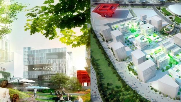 A rendering of Shanghai's Green Valley project (Credit: Architype.org)