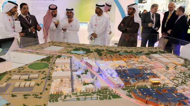A model of Masdar City (Credit: Karim Sahib/AFP/Getty)