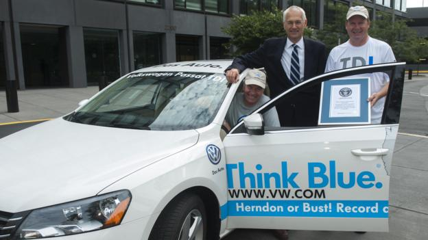Record road trip (Credit: Volkswagen of America)