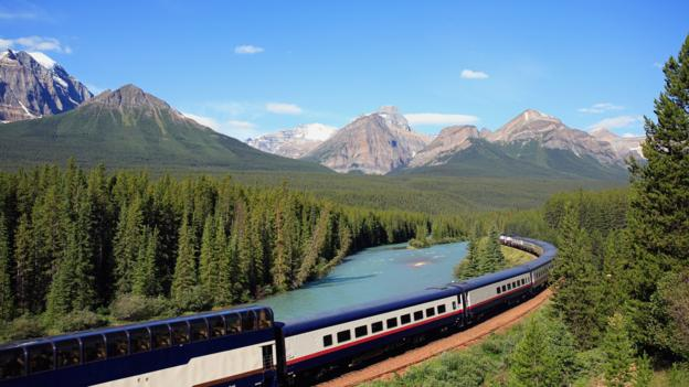 The Rocky Mountaineer in Banff National Park (Credit: John E Marriott/Getty)