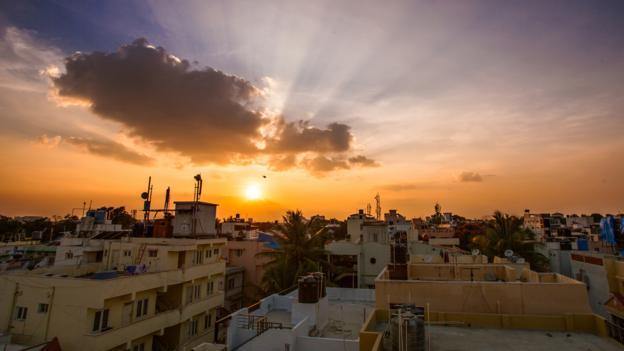 Sunset in Bangalore (Credit: Akash Bhattacharya/Getty)