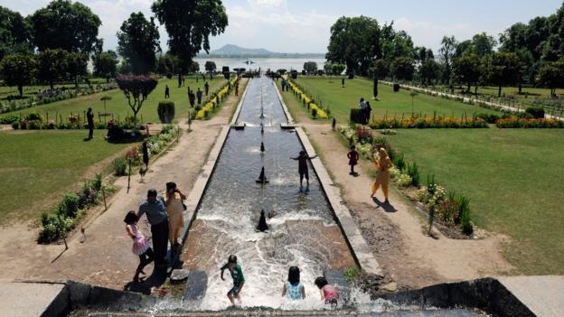 The Nishat Mughal Garden (Credit: Tauseef Mustafa/AFP/Getty)