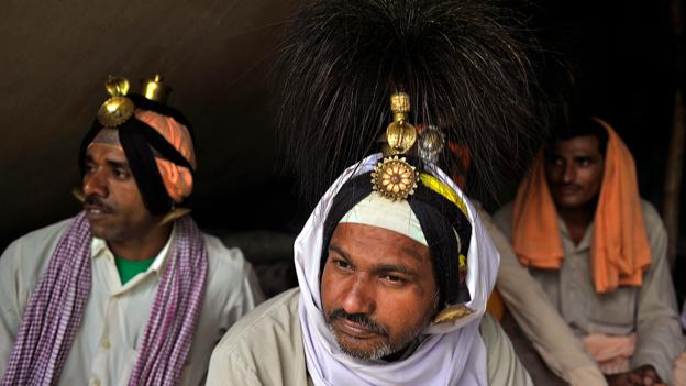 Hindu piligrims (Credit: Tauseef Mustafa/AFP/Getty)
