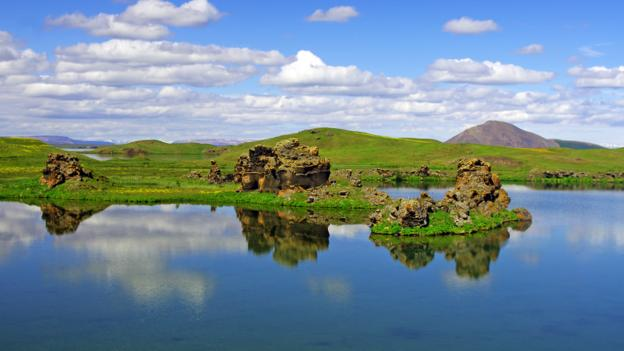 Lava formations in Lake Myvatn (Credit: Reinhard Pantke/Getty)