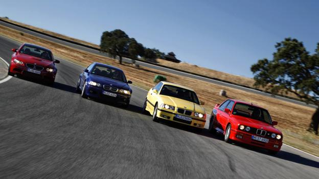 Four generations of BMW M3 (Credit: BMW Group)