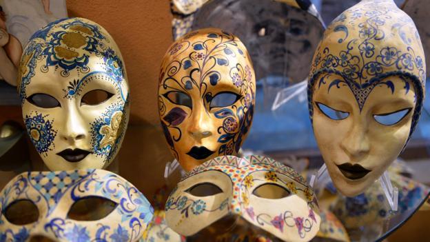 Venetian masks (Credit: Vincenzo Pinto/AFP/Getty)