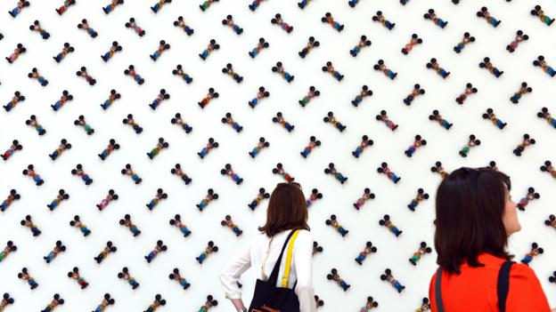 An installation titled Nothing Between Us at the Venice Biennale (Credit: Gabriel Bouys/AFP/Getty)