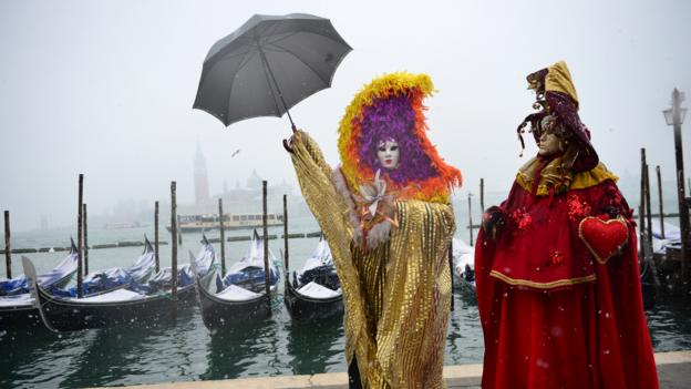 The Carnival of Venice (Credit: Francois Xavier Marit/AFP/Getty)