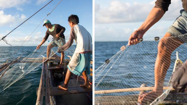 Fishing for nets (Credit: Interface, Inc.)