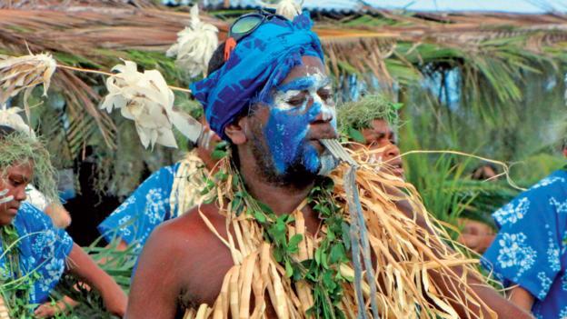 A local celebrates the Avocado festival (Credit: © Destination Iles Loyaute Chesher)
